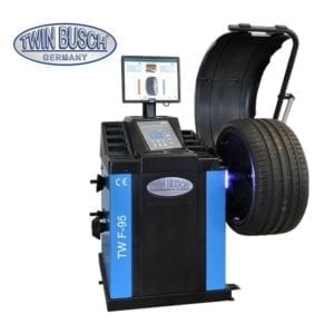 Automatic Wheel Balancing Machine, With laser, Twin Busch Germany-TWF-95, |Pro Workshop Gear