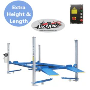 4 post Hoist 3.6T, Ex Height, Car parking lift, Car stacker with control box-Jackaroo JFP3.6HL-Pro, |Pro Workshop Gear