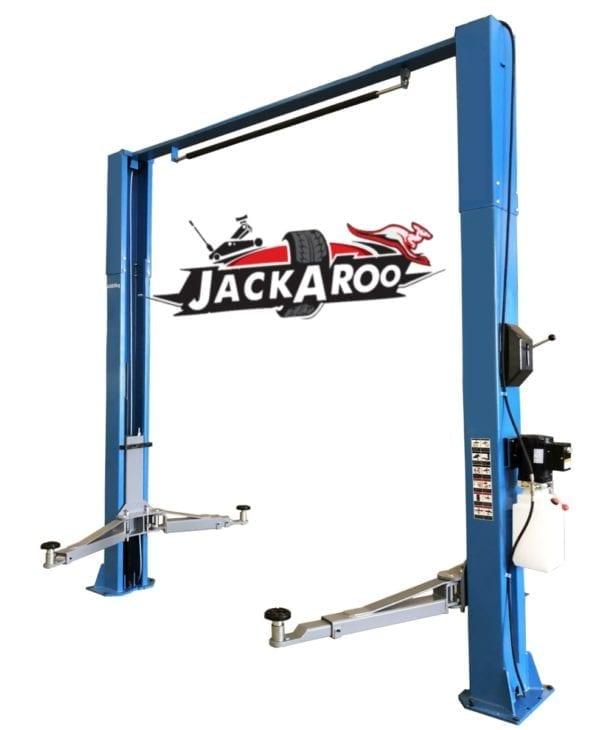 2 post Hoist 4T Clear floor, Manual-Jackaroo JT400CF-M | Pro workshop gear